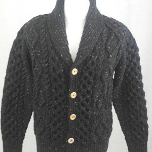 6A Shawl Collar Cardigan Black