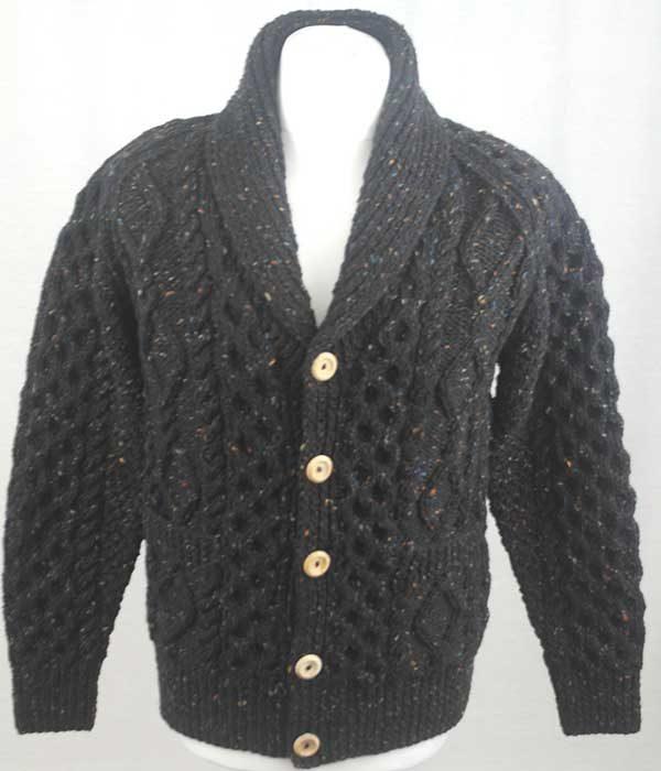 6A Shawl Collar Cardigan Black