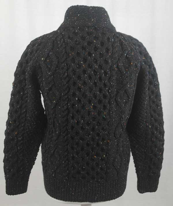 6A Shawl Collar Cardigan Black Back
