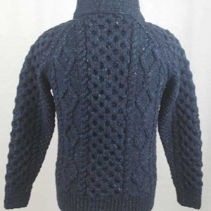 6A Shawl Collar Cardigan Blue Back