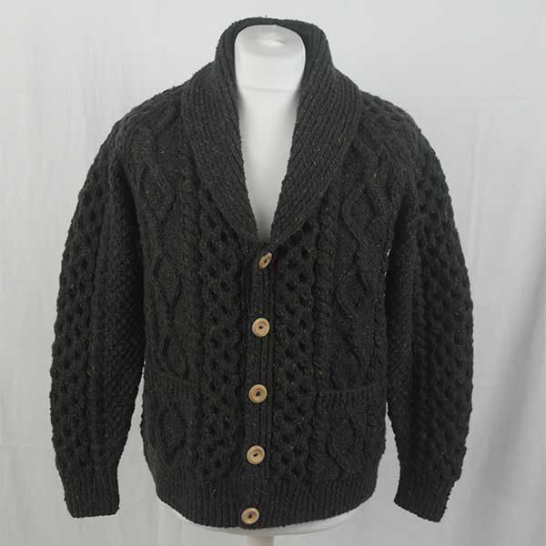 6A Shawl Collar Cardigan 291a Green 7024
