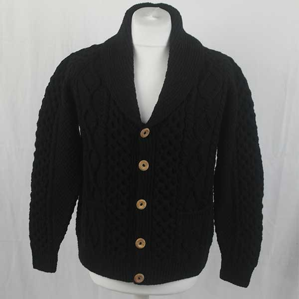 6A Shawl Collar Cardigan 292a Black 44