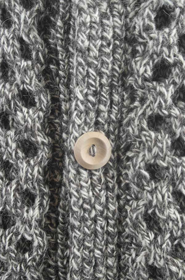 6A Shawl Collar Cardigan Gritstone Pure New Wool