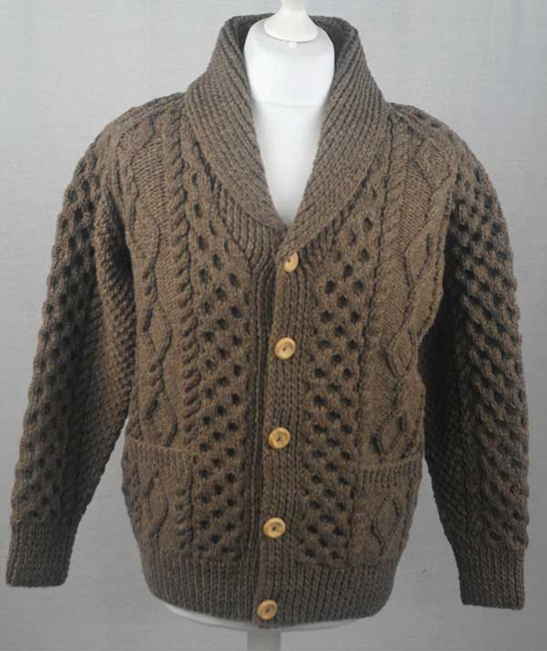 6A Shawl Collar Cardigan Nutmeg