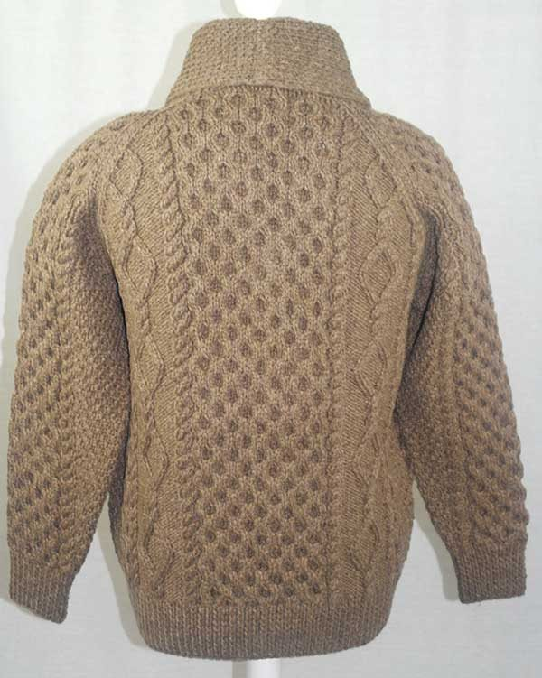 6A Shawl Collar Cardigan Nutmeg Back