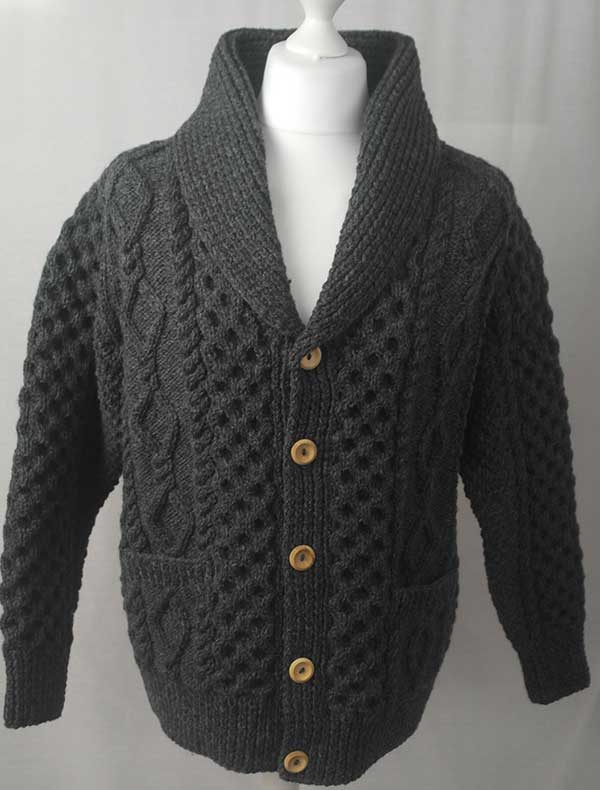 6A Shawl Collar Cardigan Oxford
