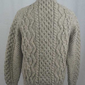 8E V-Neck Cardigan Coffee Back