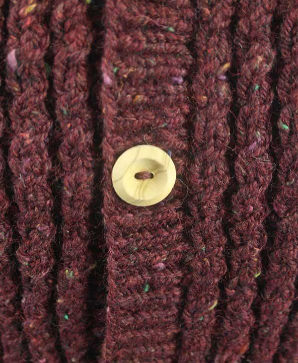 9H Aran Waistcoat Melvin Pure New Wool
