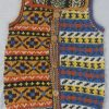 9P Assorted Pattern Fairisle Waistcoat Assorted