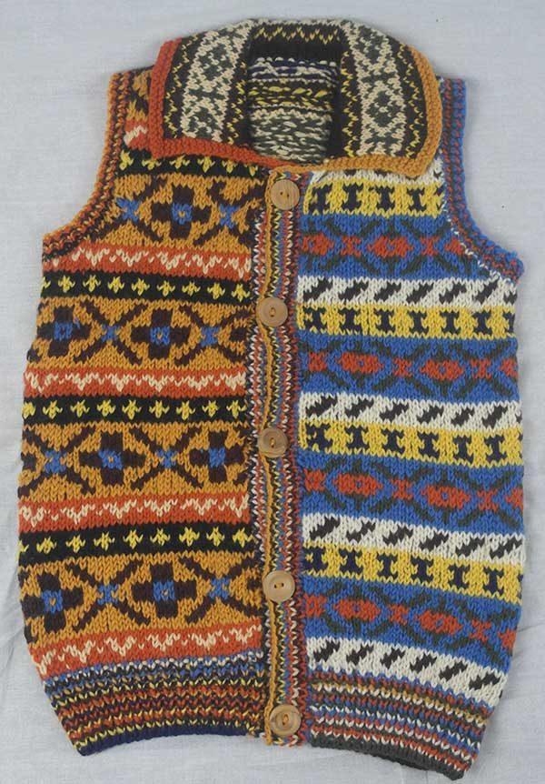 9P Assorted Pattern Fairisle Waistcoat Assorted