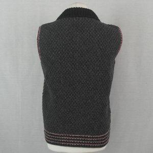 9Q Multi Colour Moss Stitch Waistcoat 519b Assorted - Back