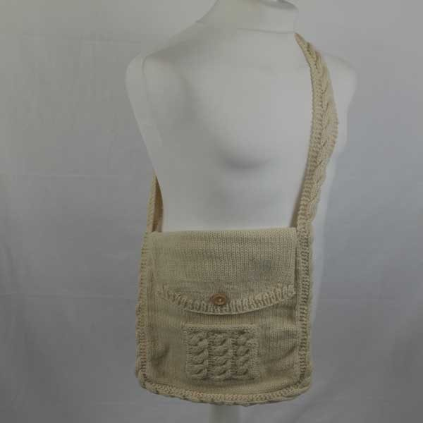 Cable Shoulder Bag Natural