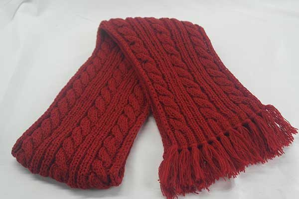 22F Rib & Cable Hat & Scarf Set Tudor