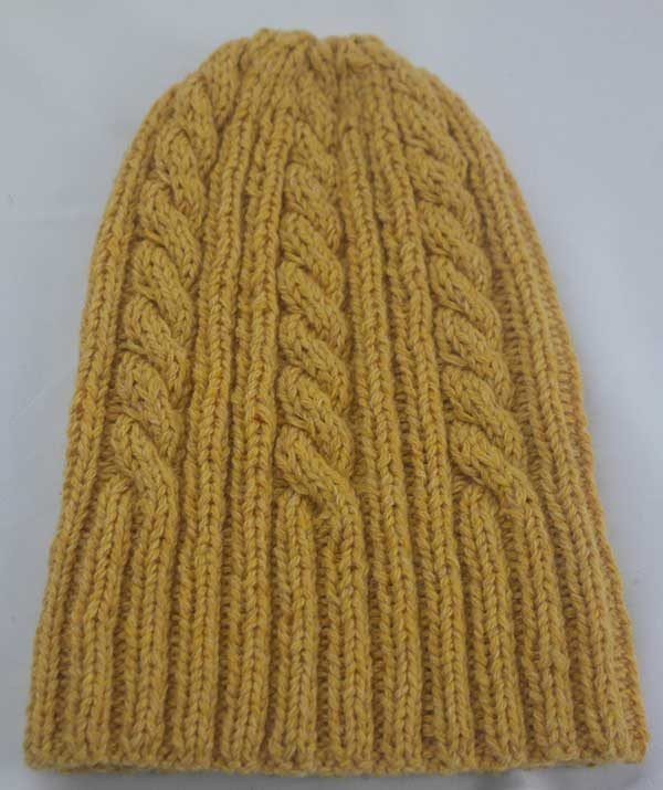 22F Rib & Cable Hat & Scarf Set Crocus