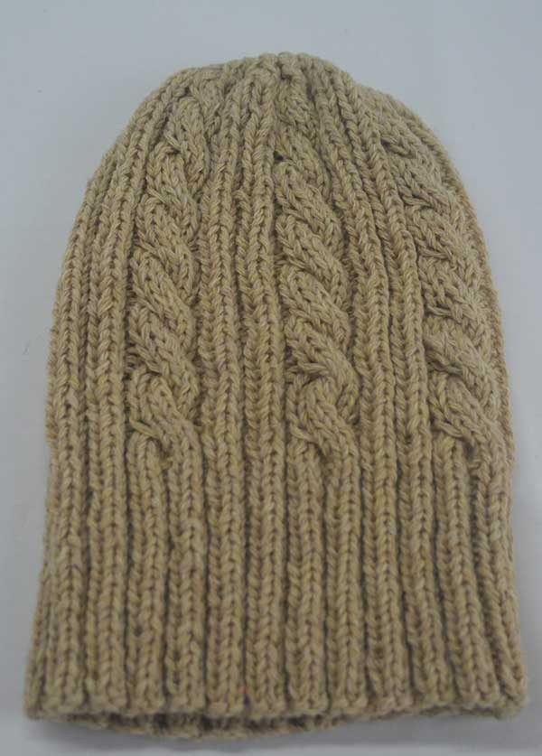 22F Rib & Cable Hat & Scarf Set Pancake