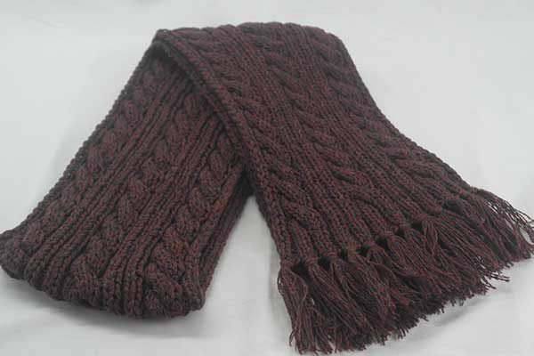 22F Rib & Cable Hat & Scarf Set Hawthorn