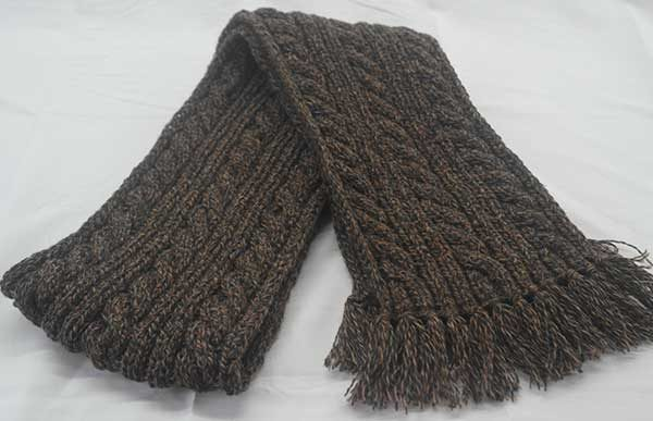 22F Rib & Cable Hat & Scarf Set Sherwood