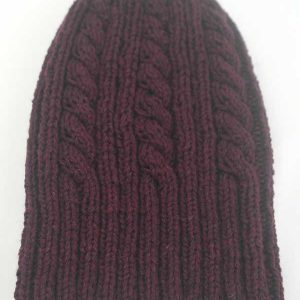 22F Rib & Cable Hat & Scarf Set Wizard
