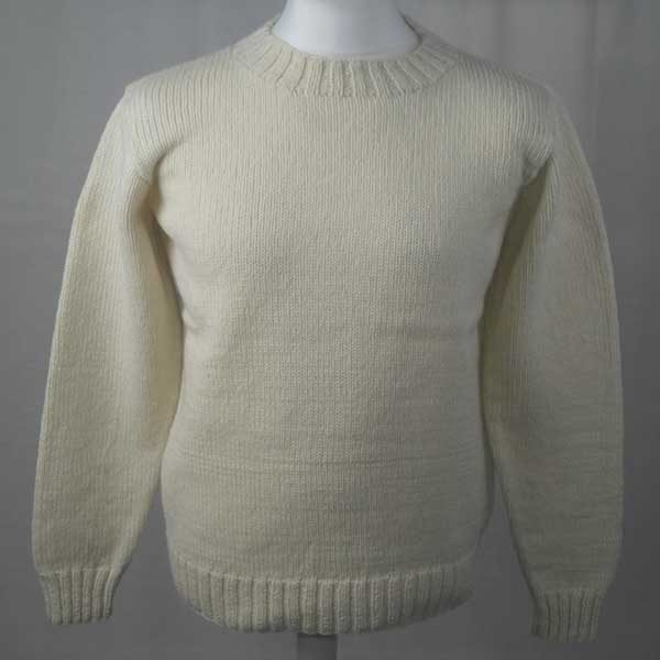 1Z Hand Framed Crew Neck Sweater Winter White