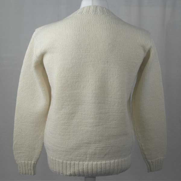 1Z Hand Framed Crew Neck Sweater Winter White Back