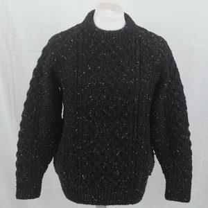 1J Gregory Crew Neck Sweater Black 7050