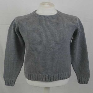 1Z Hand Framed Crew Neck Sweater Smoke 142