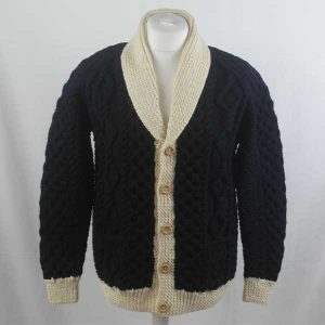 202 Tyndrum Shawl Collar Cardigan 274a Navy-Natural