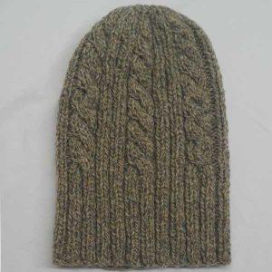 22F Rib & Cable Hat Mushroom 0621