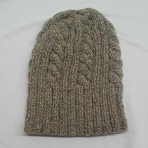 22F Rib & Cable Hat Coblestone 0607
