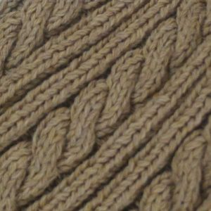 22F Rib & Cable Scarf Tusk 0239 Close Up