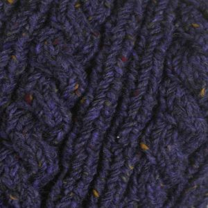 22F Rib & Cable Scarf Violet 7057 Close Up