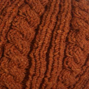 22F Rib & Cable Scarf Orange 7019 Close Up