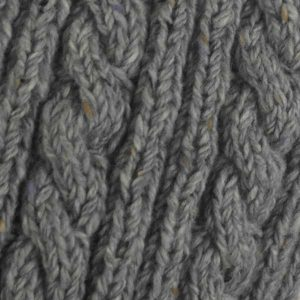22F Rib & Cable Scarf Grey 7004 Close Up