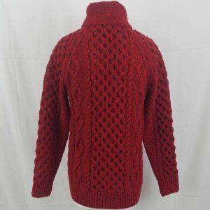 6A Shawl Collar Cardigan Red 7015