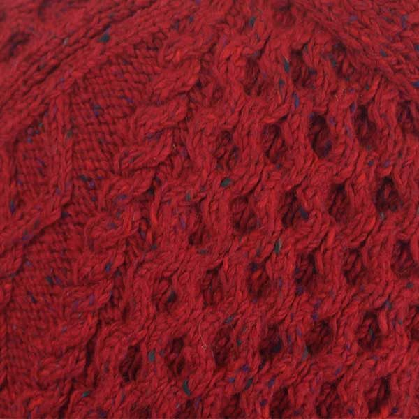 6A Shawl Collar Cardigan Red 7015 Close Up