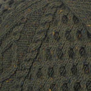 6A Shawl Collar Cardigan Loden 7007 Close Up