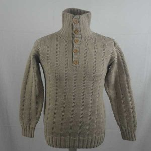 Dunmar Buttoned Sweater 273a Porridge 301