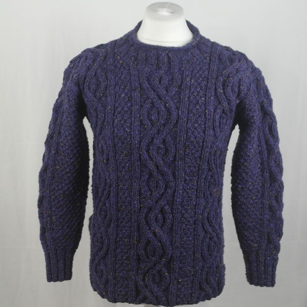 16I Tunic Roll Collar Sweater 341a Violet 7057
