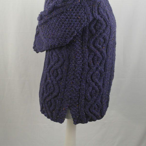 16I Tunic Roll Collar Sweater 341c Violet 7057