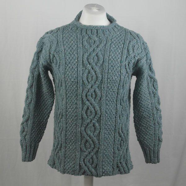16I Tunic Roll Collar Sweater 343a Sky 7037