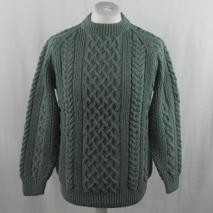 1A Country Meetings Crew Neck Sweater 358a Moss Green