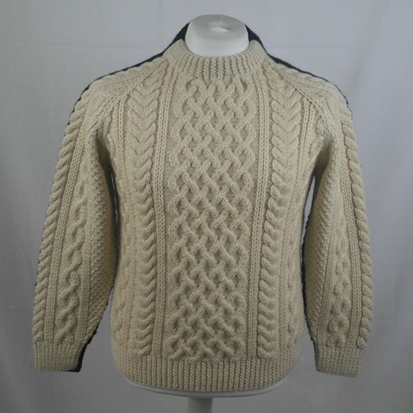 1C Country Meetings Crew Neck Sweater 328a Natural-Black