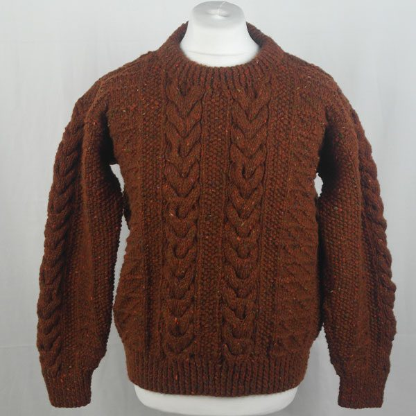 1G Pegasus Crew Neck Sweater 338a Rust 7011