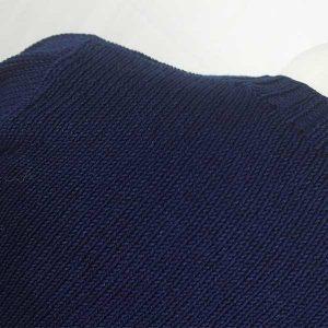 1Z Hand Framed Crew Neck Sweater Dark Denim