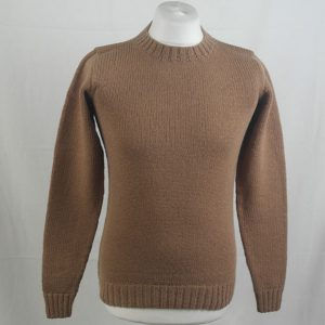 1Z Hand Framed Crew Neck Sweater 331a Camel