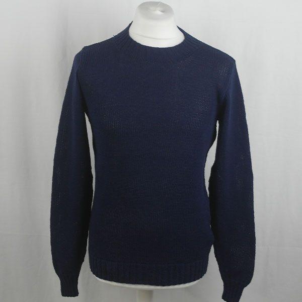 1Z Hand Framed Crew Neck Sweater 363a Navy 548