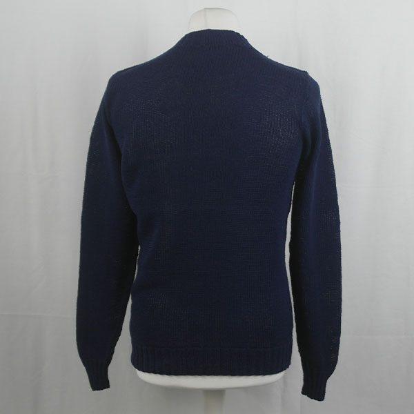 1Z Hand Framed Crew Neck Sweater 363b Navy 548