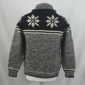 30D Swedish Snowflake Henley Sweater 326b A Navy-Natural