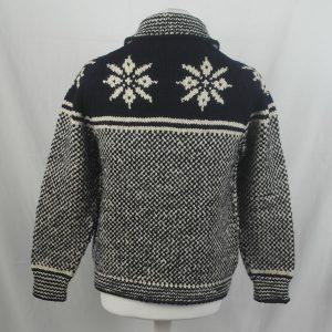 30D Swedish Snowflake Henley Sweater 326b A Navy-Natural