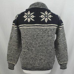 30D Swedish Snowflake Henley Sweater 326b B Navy-Natural